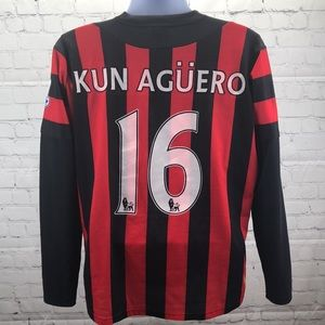 Manchester City FC Kun Aguero soccer jersey